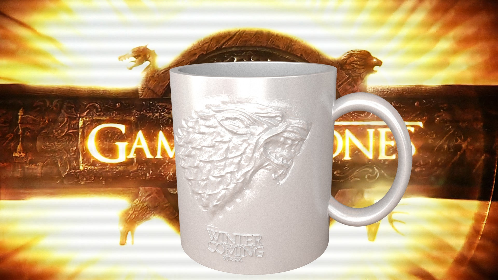 1.1.jpg Download STL file Game Of Thrones Stark Coffee Mug • 3D printer object, SimaDesign