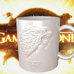 Télécharger STL Game Of Thrones Stark Tasse de café, SimaDesign