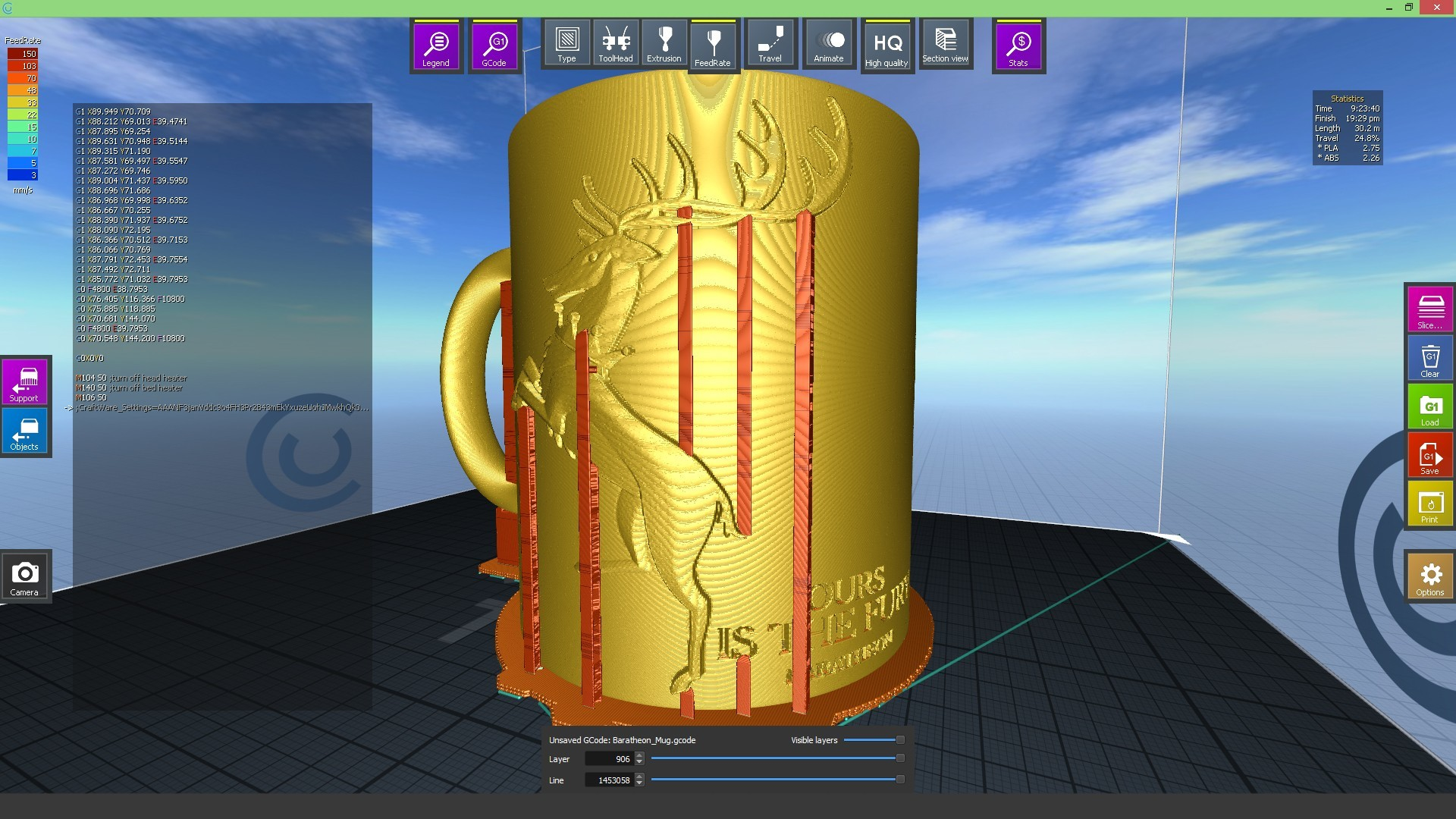 2.1.jpg Download STL file Game Of Thrones Baratheon Coffee Mug • 3D print object, SimaDesign