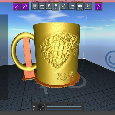 2.2.jpg Download STL file Game Of Thrones Stark Coffee Mug • 3D printer object, SimaDesign