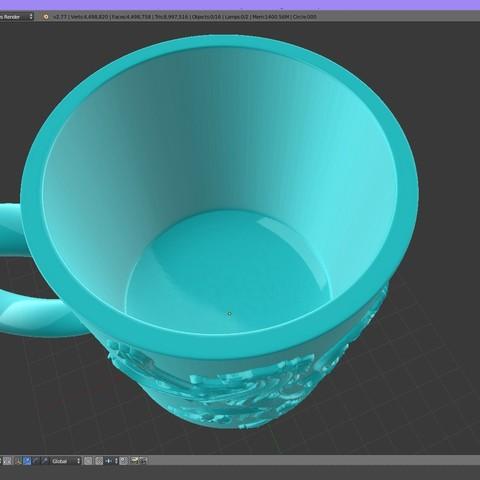 2.4.jpg Download STL file Game Of Thrones Lannister Coffee Mug • 3D printable model, SimaDesign