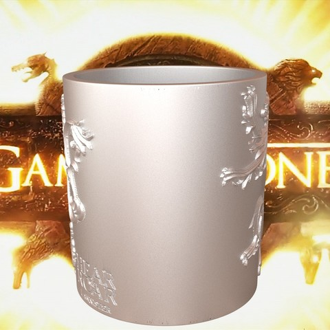 3.3.jpg Download STL file Game Of Thrones Lannister Coffee Mug • 3D printable model, SimaDesign