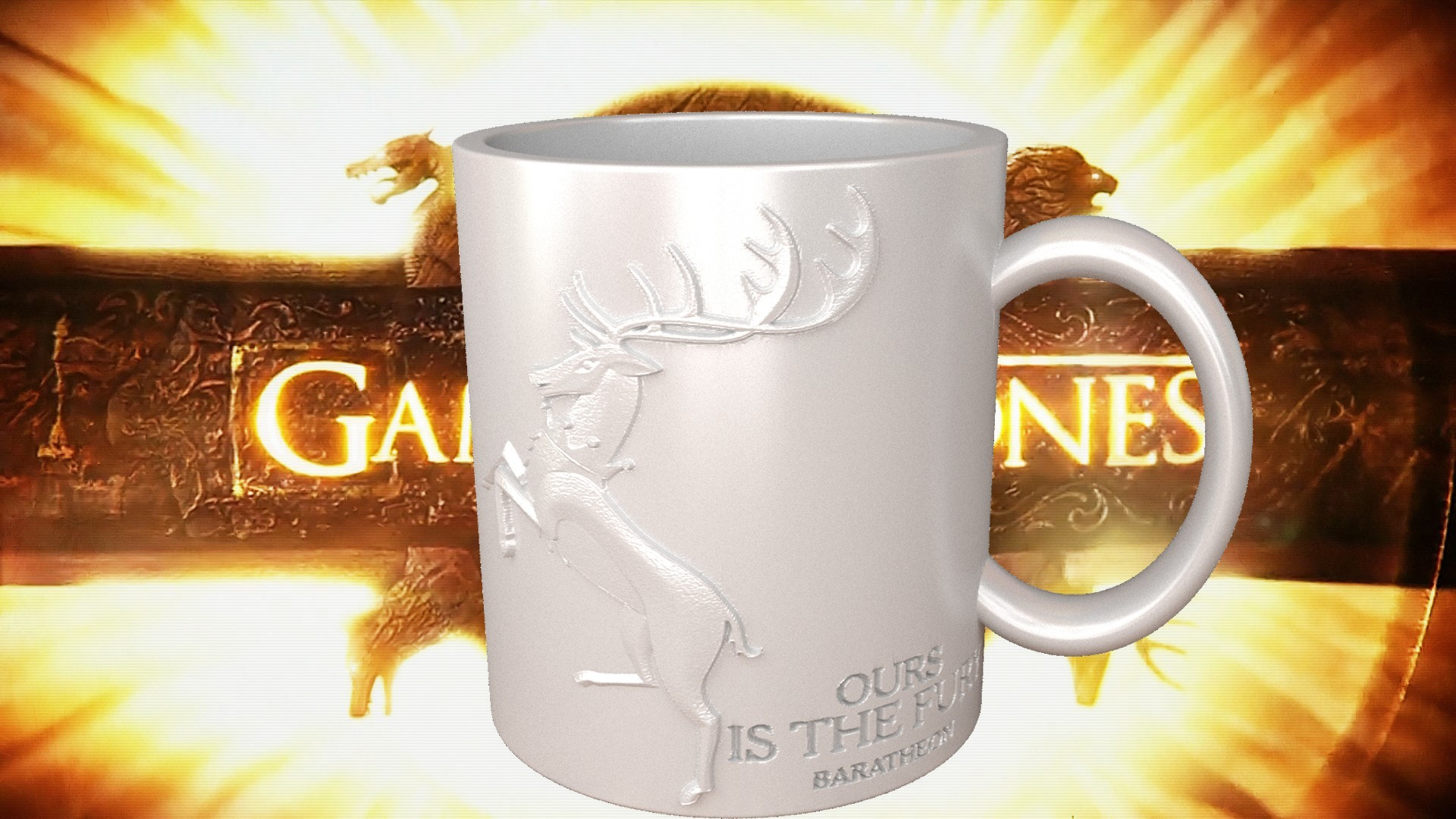 3.3.jpg Download STL file Game Of Thrones Baratheon Coffee Mug • 3D print object, SimaDesign