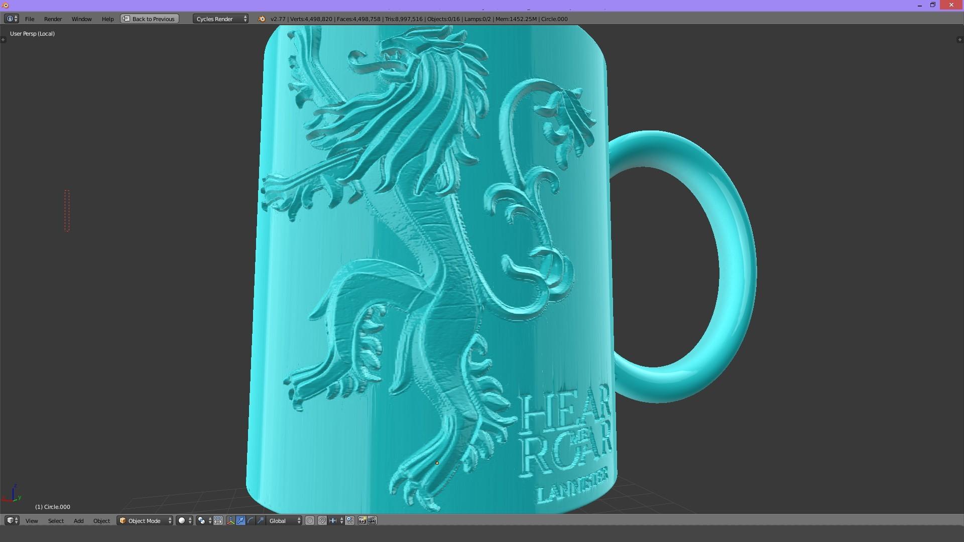2.2.jpg Download STL file Game Of Thrones Lannister Coffee Mug • 3D printable model, SimaDesign
