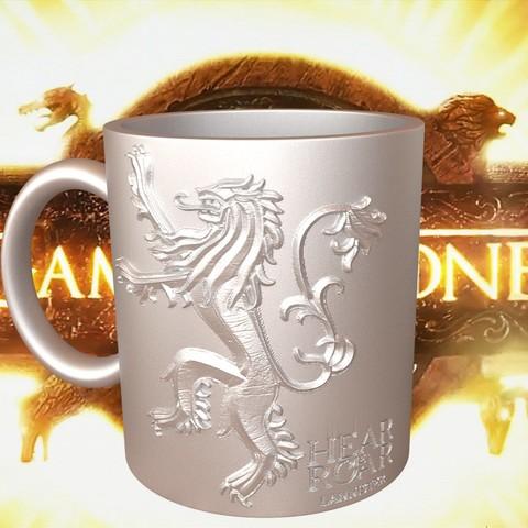 3.4.jpg Download STL file Game Of Thrones Lannister Coffee Mug • 3D printable model, SimaDesign