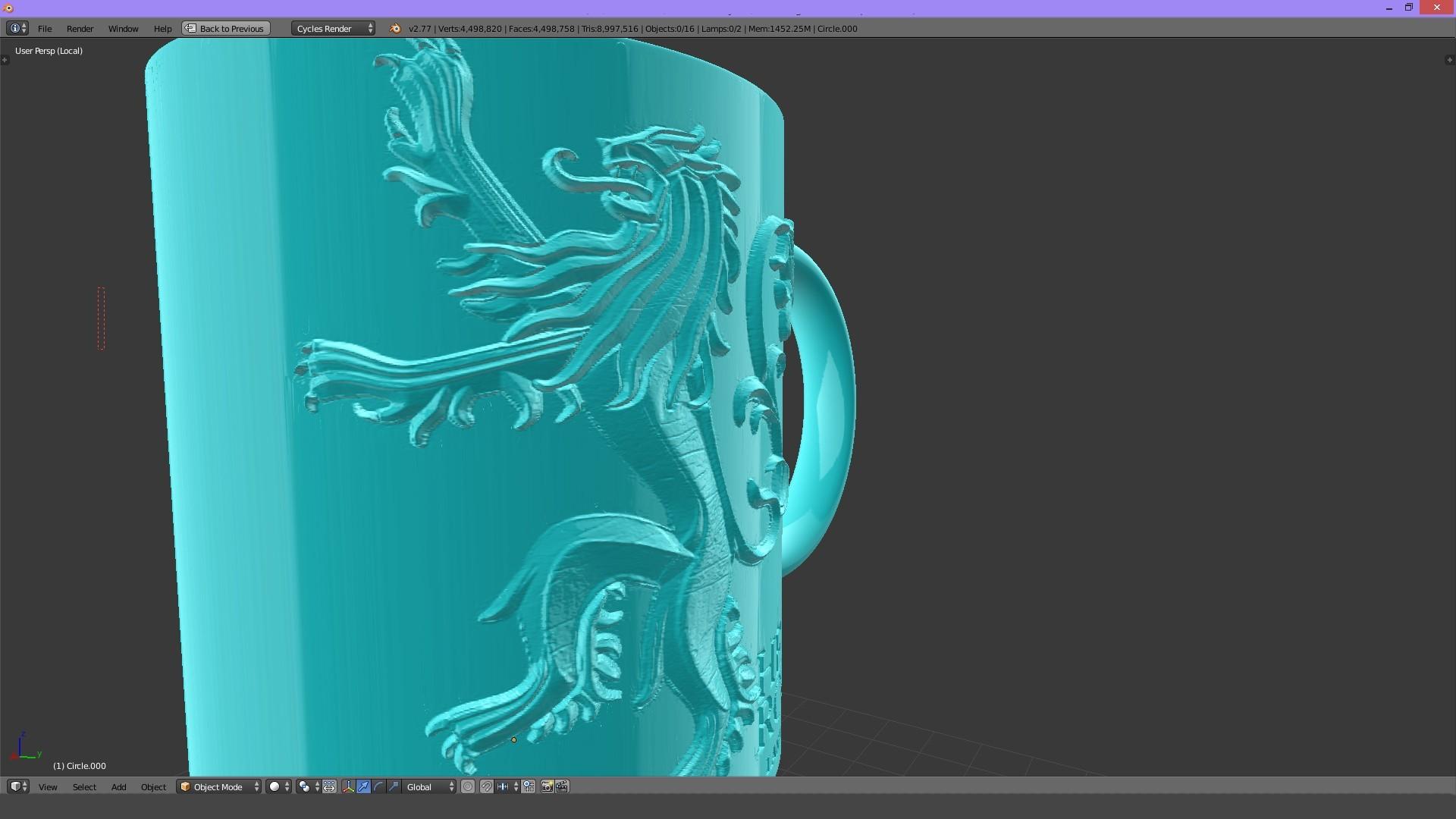 2.1.jpg Download STL file Game Of Thrones Lannister Coffee Mug • 3D printable model, SimaDesign