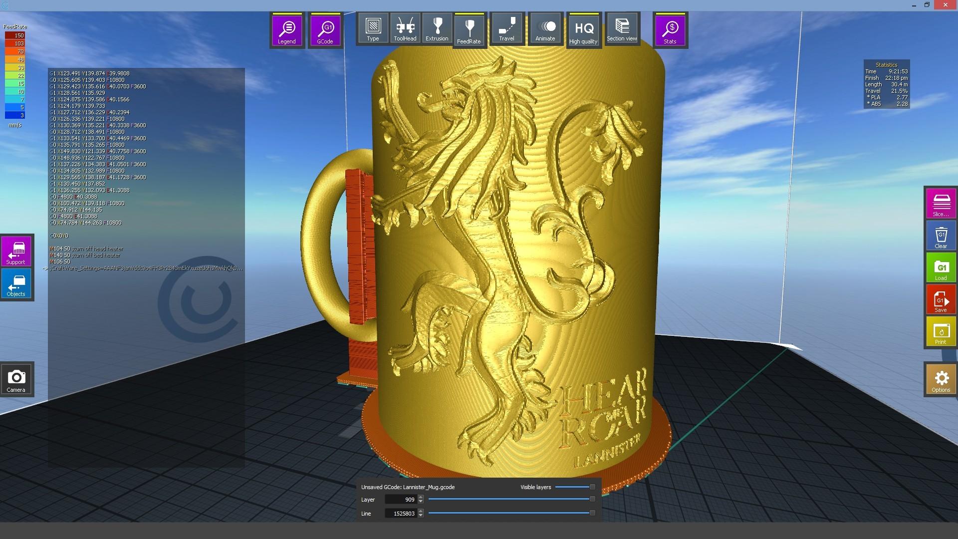 1.2.jpg Download STL file Game Of Thrones Lannister Coffee Mug • 3D printable model, SimaDesign