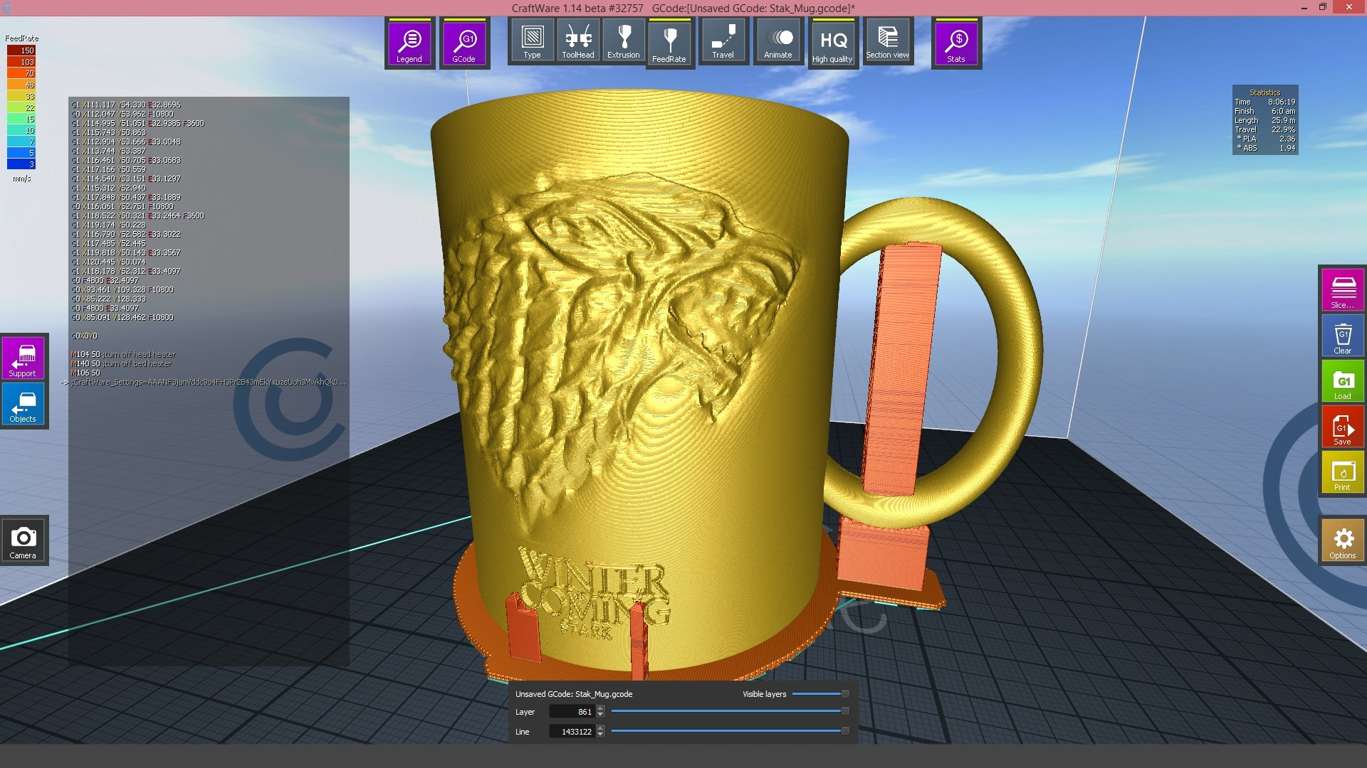 2.3.jpg Download STL file Game Of Thrones Stark Coffee Mug • 3D printer object, SimaDesign