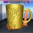 STL files Game Of Thrones Stark Coffee Mug, SimaDesign