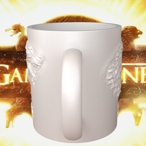 1.4.jpg Download STL file Game Of Thrones Stark Coffee Mug • 3D printer object, SimaDesign