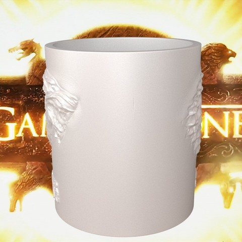 1.3.jpg Download STL file Game Of Thrones Stark Coffee Mug • 3D printer object, SimaDesign