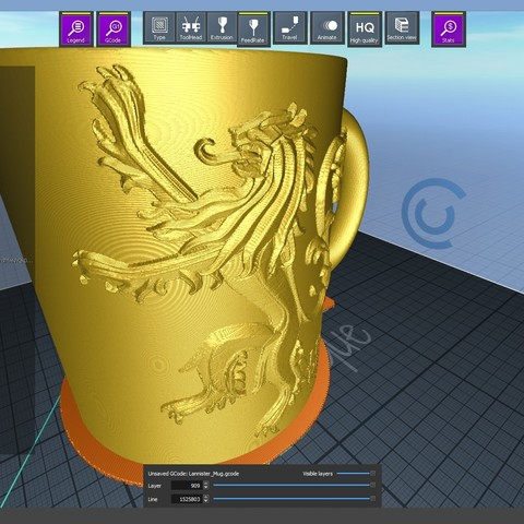 1.1.jpg Download STL file Game Of Thrones Lannister Coffee Mug • 3D printable model, SimaDesign
