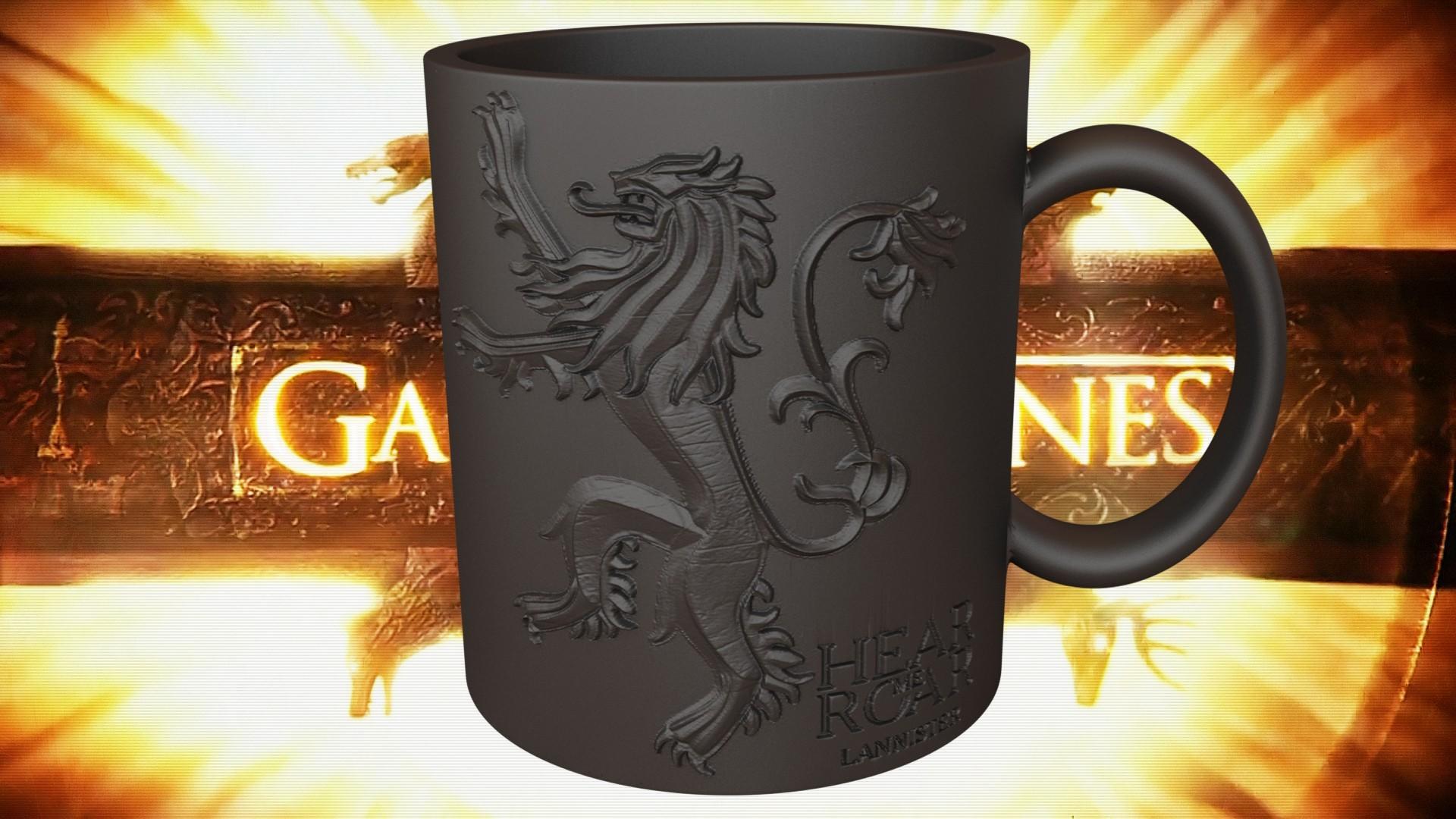 3.2.jpg Download STL file Game Of Thrones Lannister Coffee Mug • 3D printable model, SimaDesign