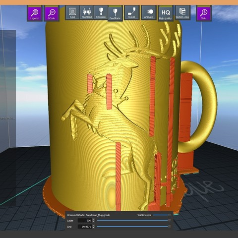 2.3.jpg Download STL file Game Of Thrones Baratheon Coffee Mug • 3D print object, SimaDesign