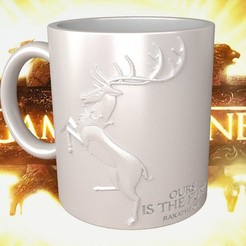 3D printer models Game Of Thrones Baratheon Coffee Mug, SimaDesign