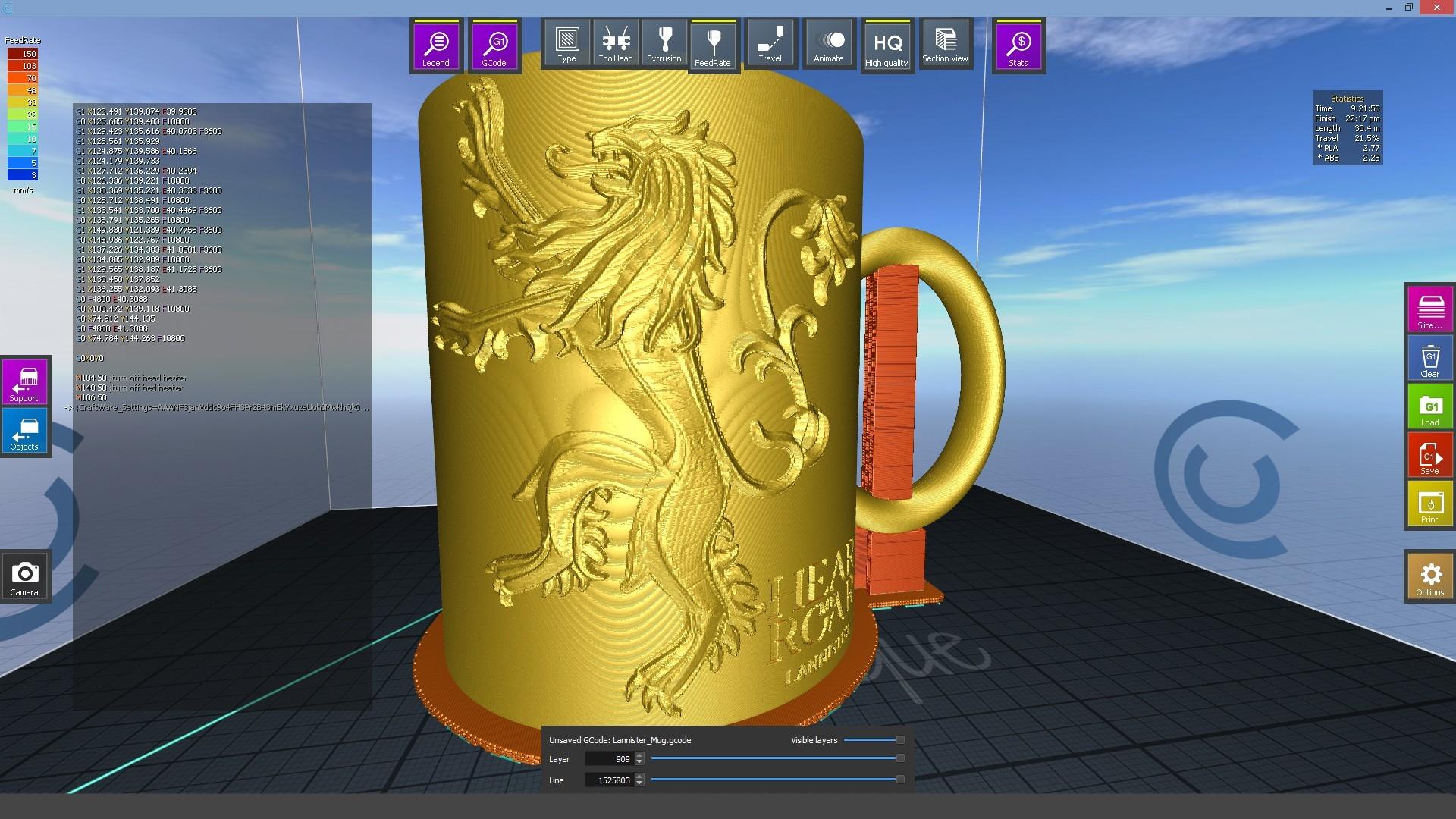 1.4.jpg Download STL file Game Of Thrones Lannister Coffee Mug • 3D printable model, SimaDesign