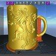 3D printing model Game Of Thrones Lannister Coffee Mug, SimaDesign