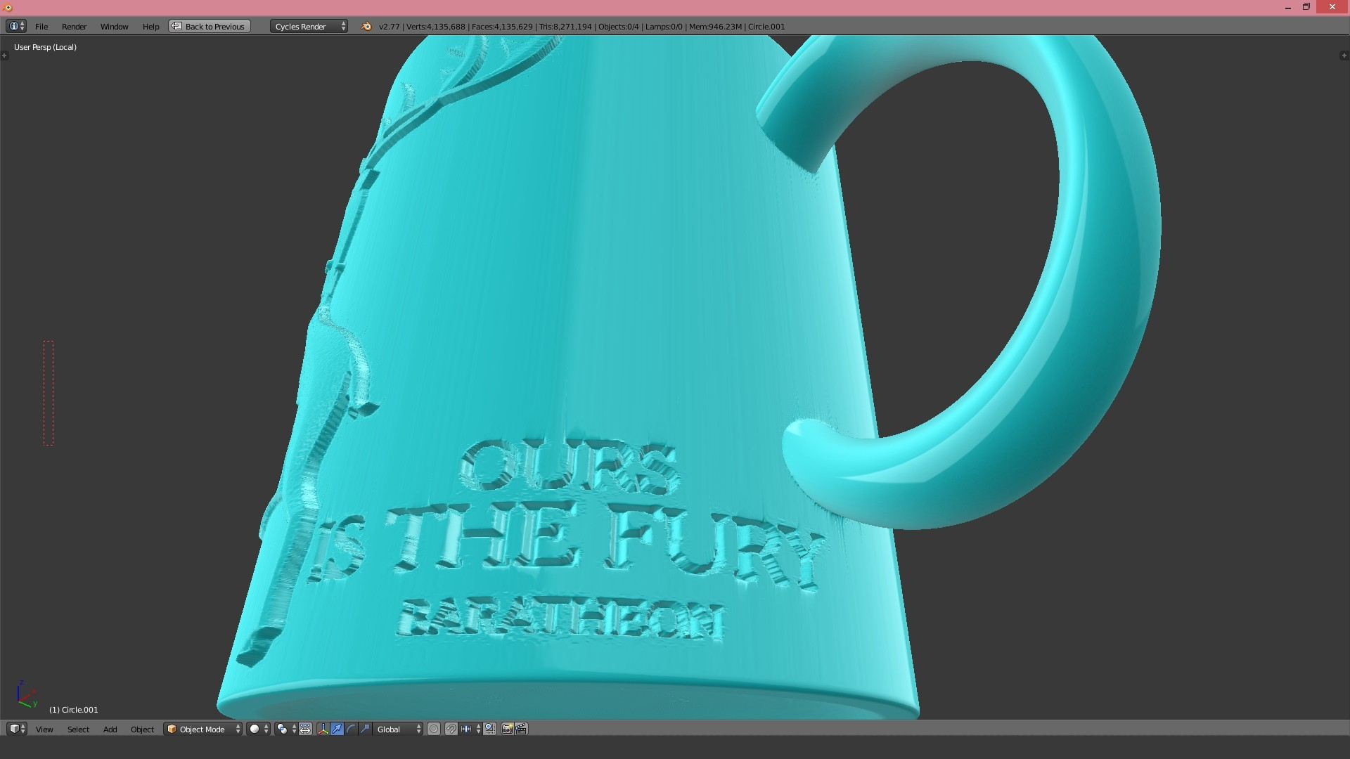 1.2.jpg Download STL file Game Of Thrones Baratheon Coffee Mug • 3D print object, SimaDesign