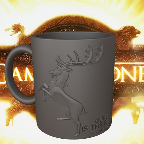 3.1.jpg Download STL file Game Of Thrones Baratheon Coffee Mug • 3D print object, SimaDesign