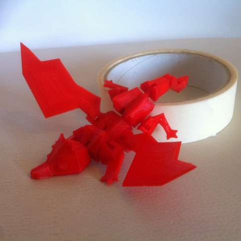 IMG_3865.JPG Download STL file My little Dragon - Articulated - Without support • 3D print model, baboon