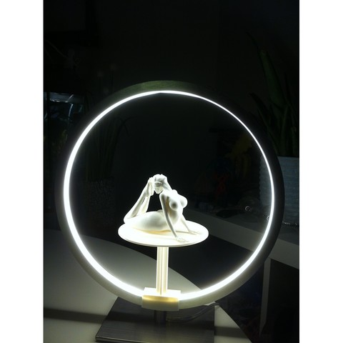 "IMG_4026.JPG Download STL file Stand for lamp ""CIRCLE PURPOSE"" • 3D printing design, baboon"