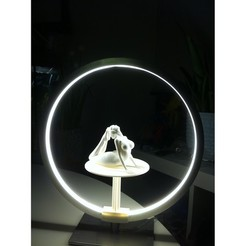 """Download 3D printer templates Stand for lamp """"CIRCLE PURPOSE"""", baboon"""