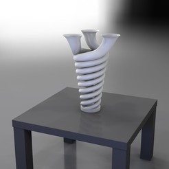 RenduVaseTrompetteTrio0000.jpg Download STL file Trumpet Trio - VASE serie • Object to 3D print, baboon