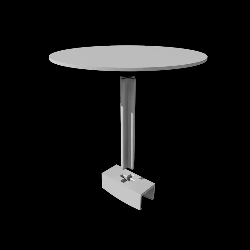"""Rendusocle0000.png Download STL file Stand for lamp """"CIRCLE PURPOSE"""" • 3D printing design, baboon"""