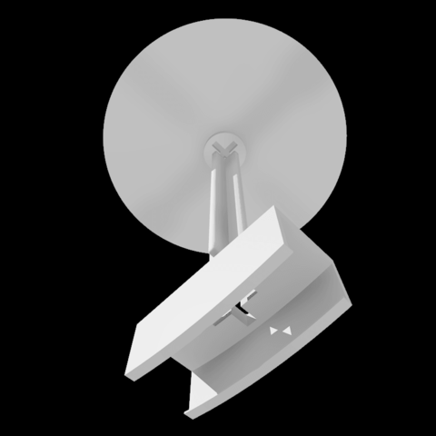 """Rendusocle0001.png Download STL file Stand for lamp """"CIRCLE PURPOSE"""" • 3D printing design, baboon"""