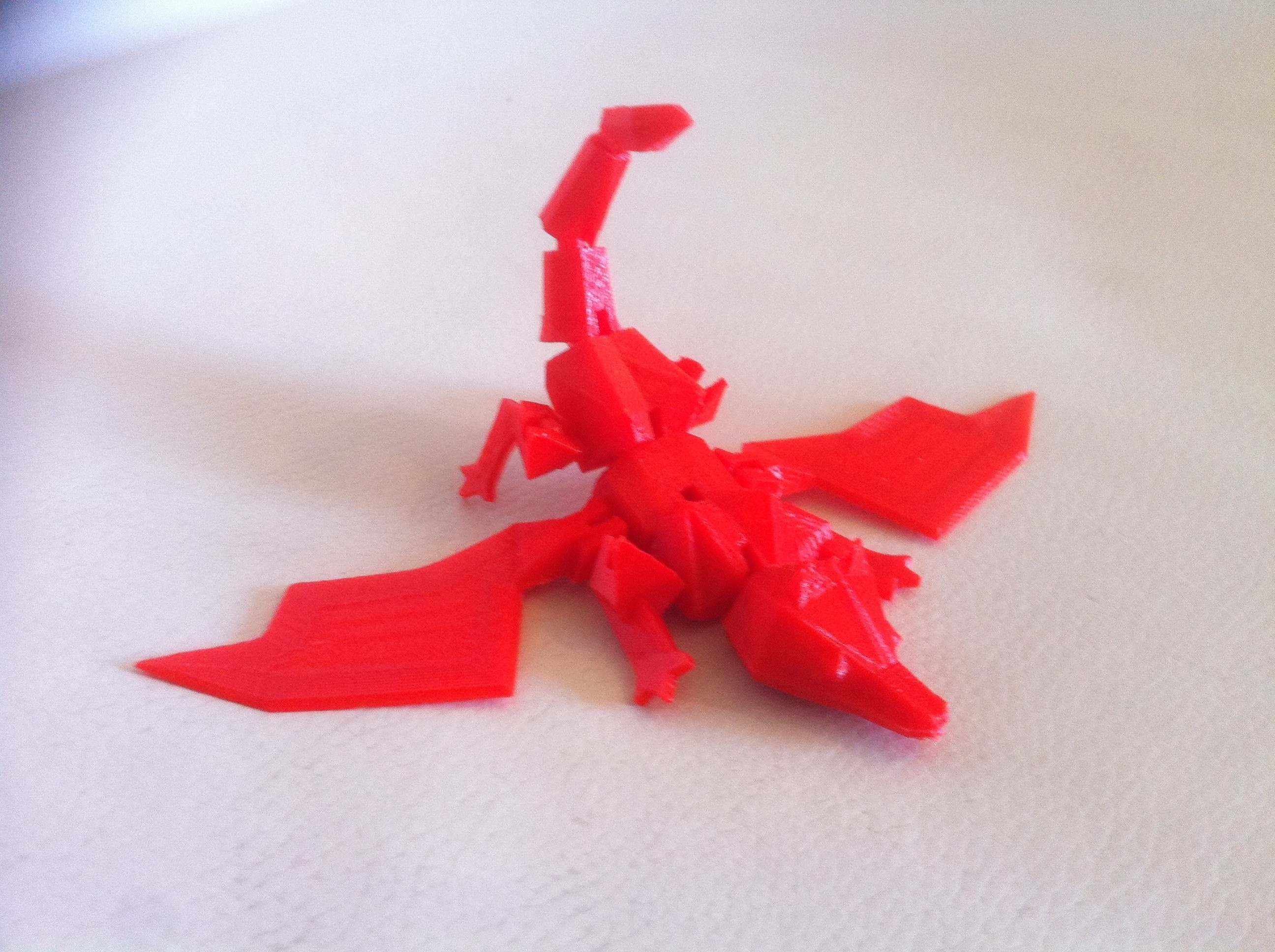 IMG_3863.JPG Download STL file My little Dragon - Articulated - Without support • 3D print model, baboon
