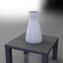 RenduVaseFloralOldSchool0000.jpg Download STL file OldSchool Floral- VASE series • 3D printer design, baboon