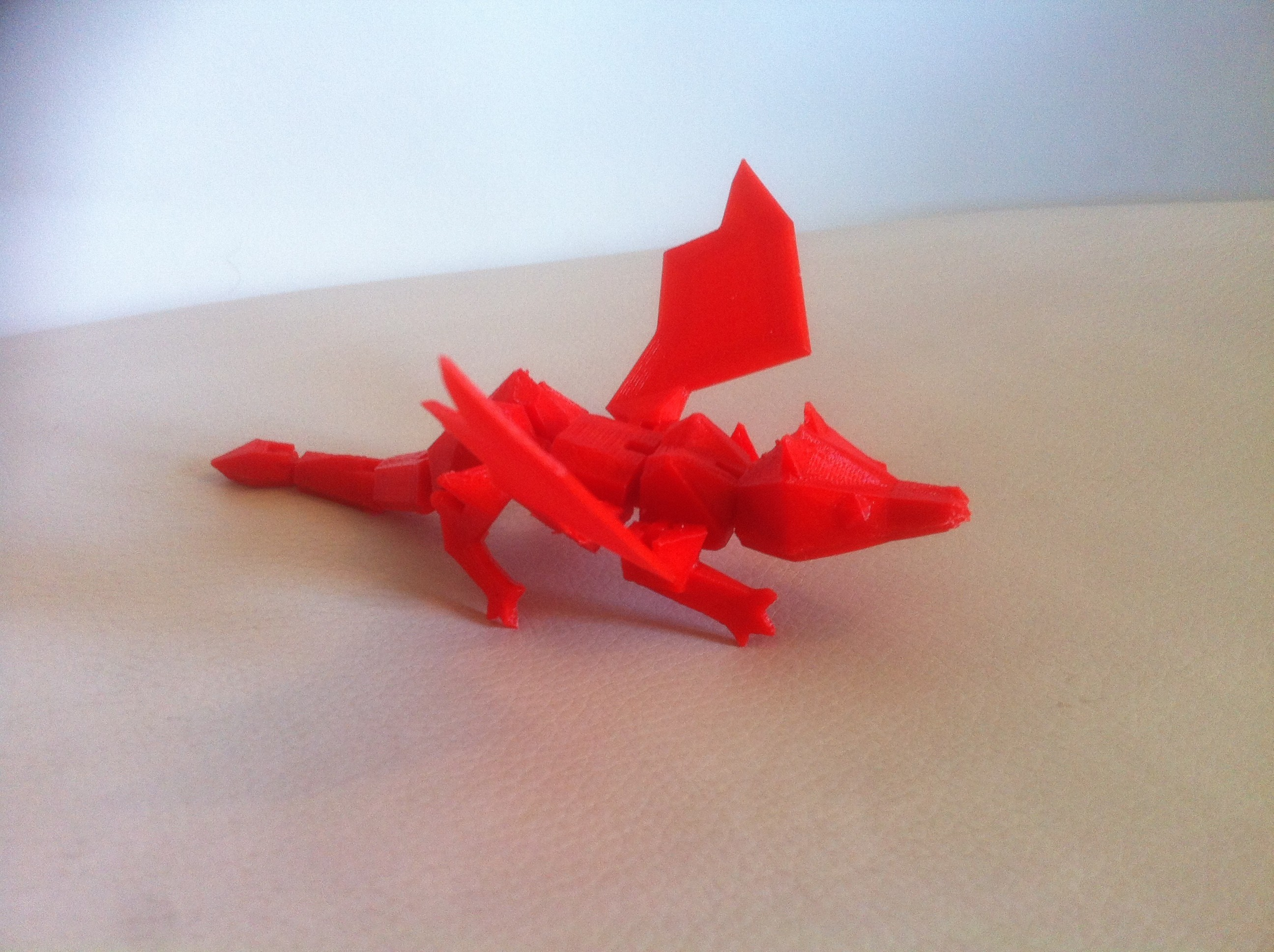 IMG_3860.JPG Download STL file My little Dragon - Articulated - Without support • 3D print model, baboon