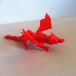 3D printer files My little Dragon - Articulated - Without support, baboon