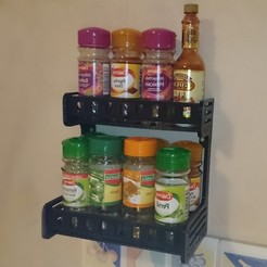 Free 3d print files Spice wall shelf, TFRICHET