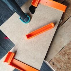 Download free 3D printing templates Shelf shelf, harps
