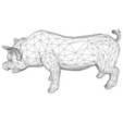 fichier 3d Cochon low poly, polkhov