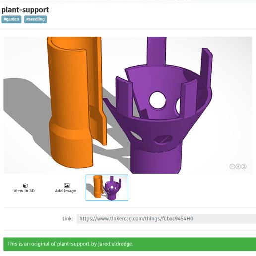 Télécharger plan imprimante 3D gatuit Soutien aux plantes, bitflung