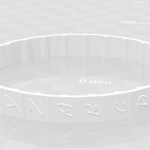 Letter ring.PNG Download free STL file cryptex • 3D printable model, MAKINA