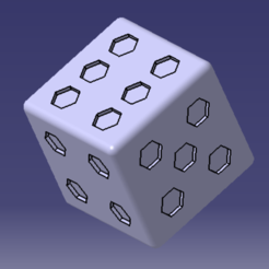 Free 3D printer files 6 sided dice, MAKINA
