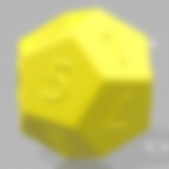 Download free 3D printer templates 12 sided dice, MAKINA
