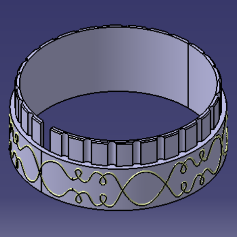 Letter ring support.PNG Download free STL file cryptex • 3D printable model, MAKINA