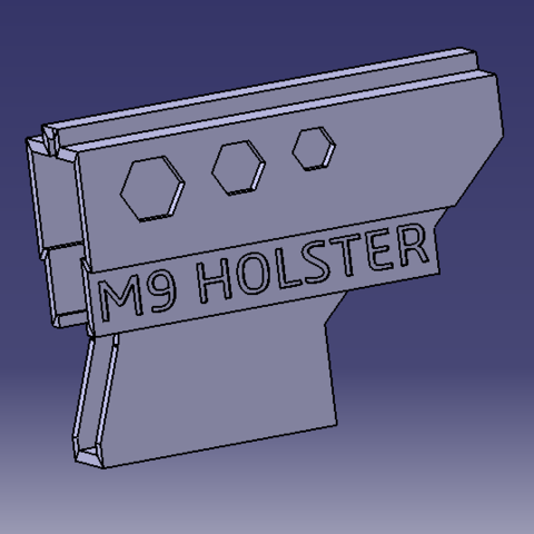 Free 3D file Holster M9, MAKINA