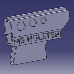 Free 3D printer designs Holster M9, MAKINA