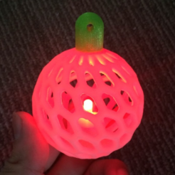 Free 3D printer designs LED Christmas Ornament, PJ_