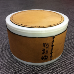 Free 3D printer file Leather + 3D Printed Container, PJ_