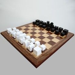 STL file Minimalist Chess Set, David_L_G