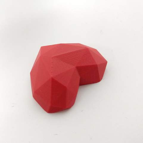 Free 3D printer designs Low poly heart for chocolate mold, teddywndr