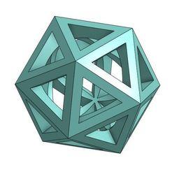 Icosa.JPG Download free STL file Icosahedron (Spherical Center) • 3D printing template, nicjones1