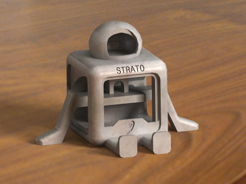mascot2.png Télécharger fichier STL gratuit STRATO (PAS DE SUPPORTS) • Plan à imprimer en 3D, nicjones1