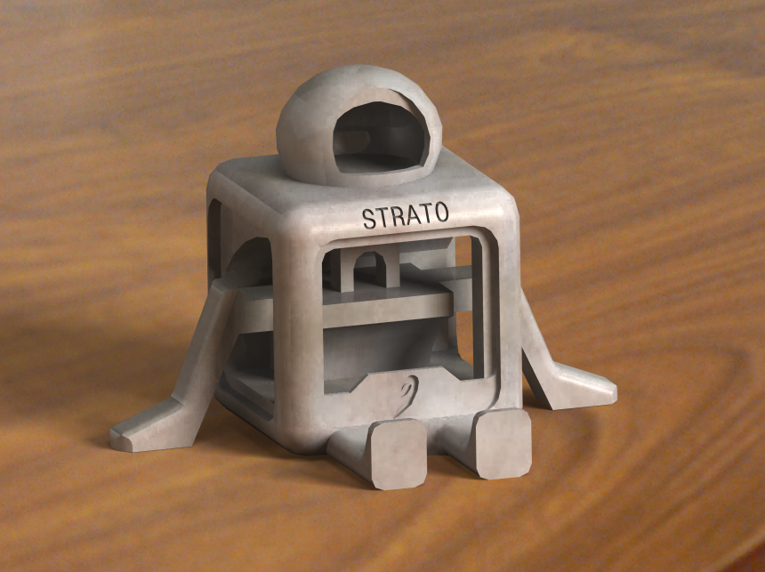 mascot2.png Download free STL file STRATO (NO SUPPORTS)  • 3D printing design, nicjones1